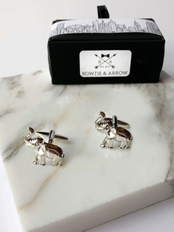 Silver Elephants Cufflinks In Gift Box | Novelty Cufflinks Australia