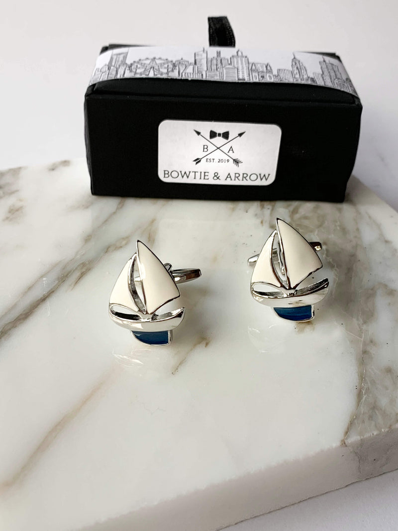 Sailboat Nautical Cufflinks In Gift Box | Gifts For Men