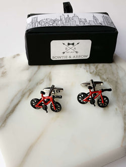 Red Bicycle Cufflinks In Gift Box | Novelty Cufflinks Australia