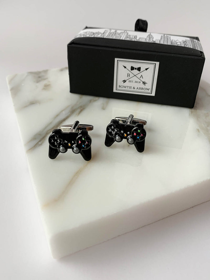 Playstation Videogame Controller Mens Black Cufflinks | Bowtie & Arrow Australia