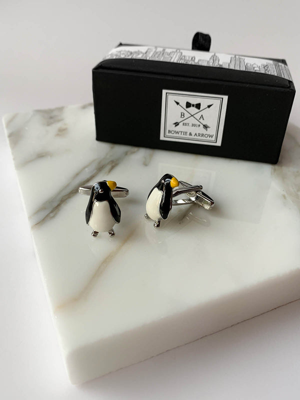 Penguin Animals Mens Cufflinks | Bowtie & Arrow Australia