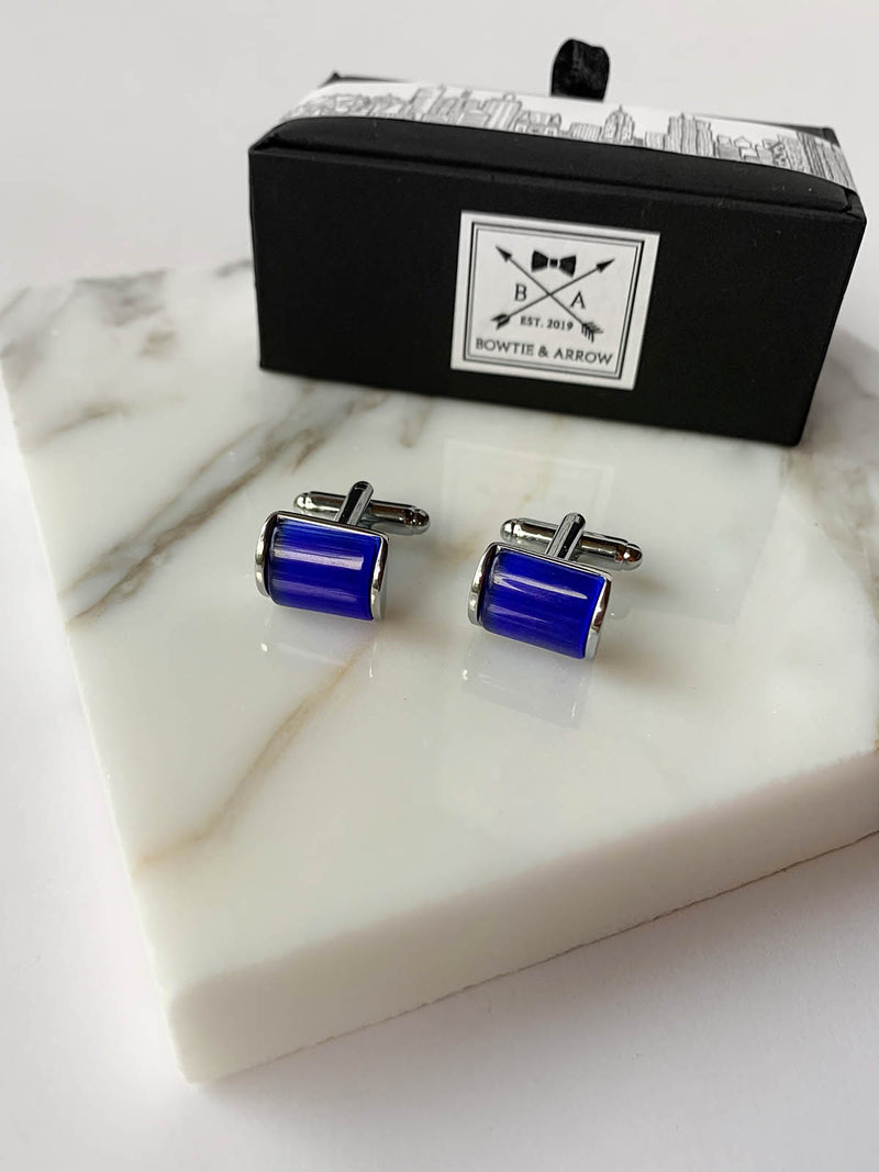 Blue Stone Mens Cufflinks | Bowtie & Arrow Australia