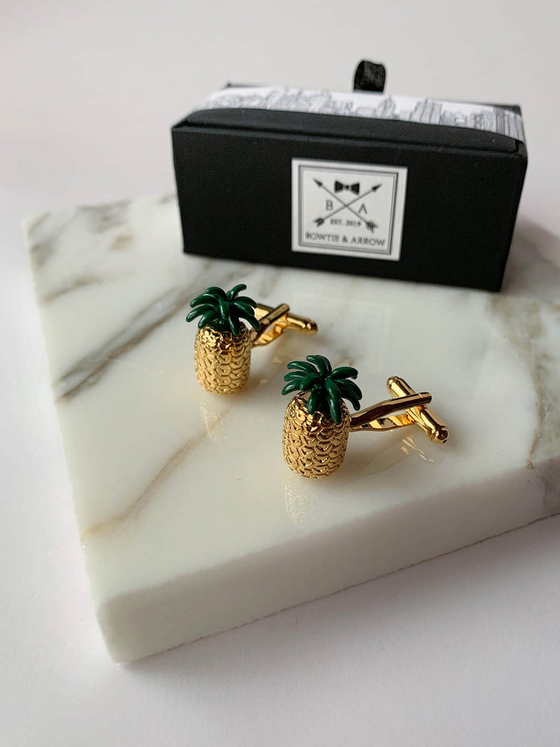 Gold Pineapple Cufflinks