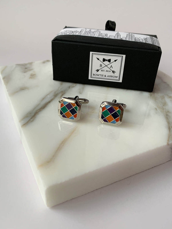 Hexagonal Mosaic Cufflinks
