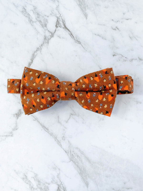 Feather in the Autumn Breeze Cotton Bow Tie Set