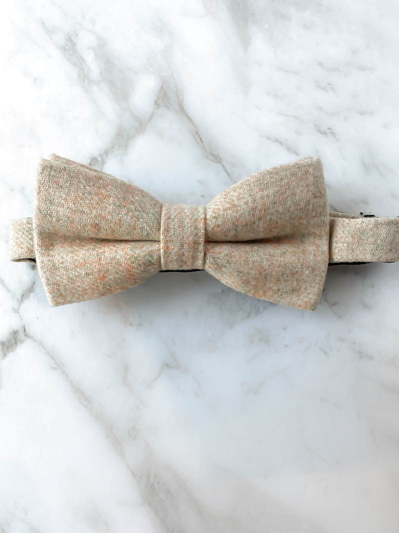 Paisleys & Cream Wool Bow Tie Set