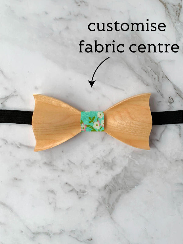 Kids Maple Wooden Bow Tie
