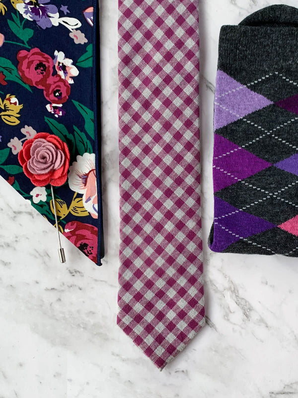 Shades of Floral Cotton Tie Set