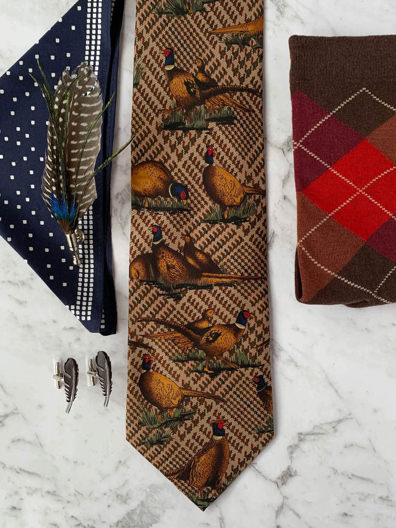 Have a Pheasant Day Silk Tie Set