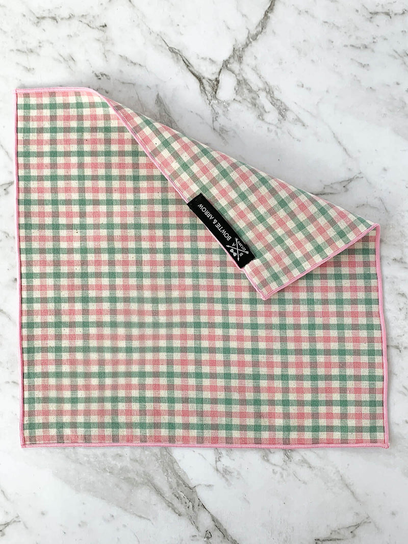 Posies and Checks Cotton Tie Set
