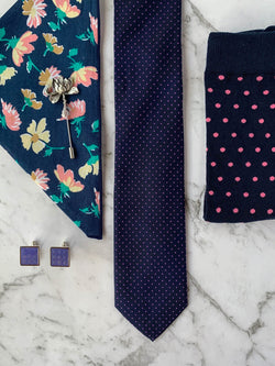 Polka Dot Silk Tie Set