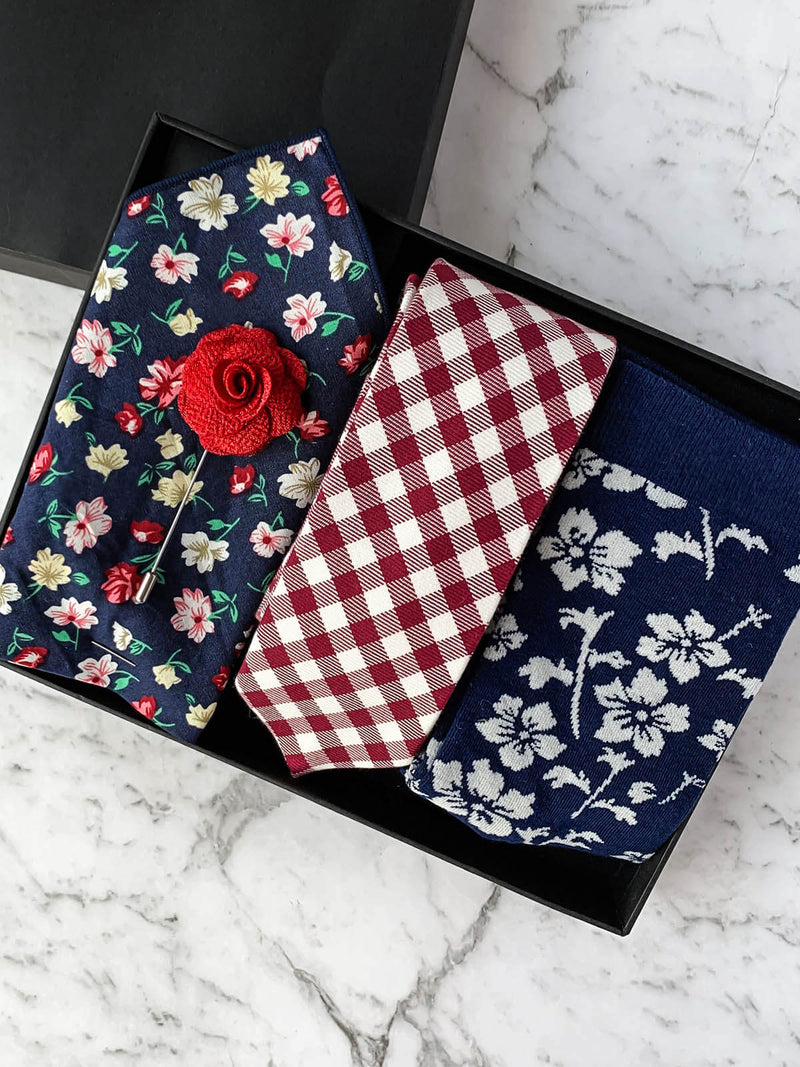 Picnic in the Blooms Cotton Tie Set
