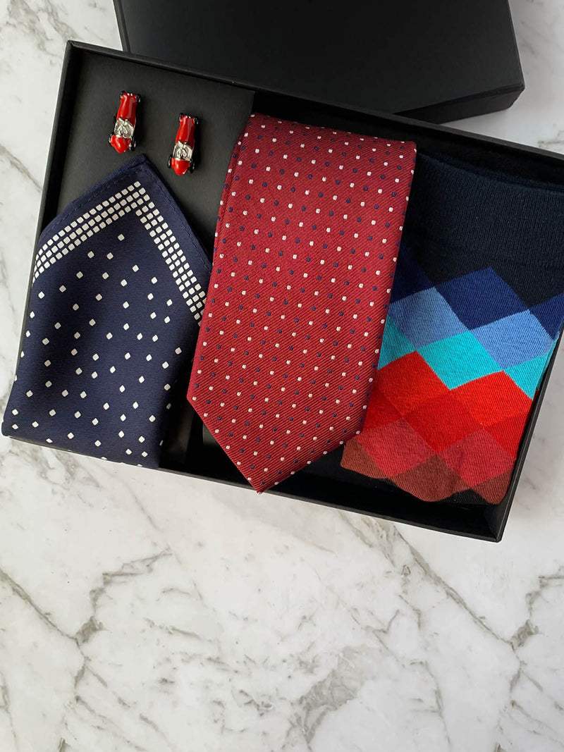 Drive My Car Silk Tie Set