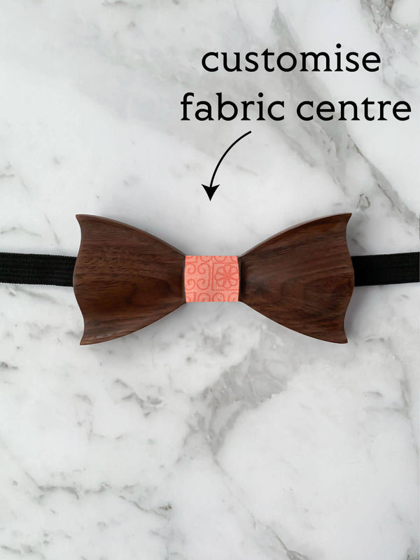 Kids Walnut Wooden Bow Tie