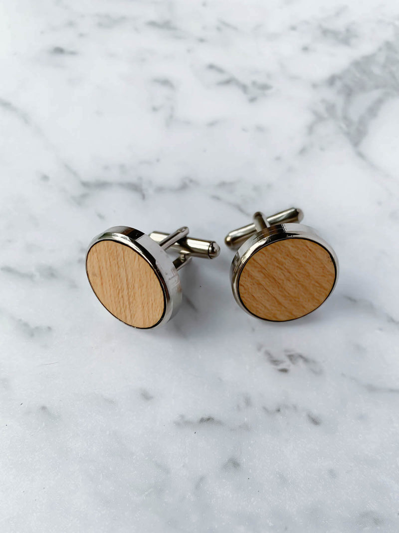 Wooden Cufflinks Australia | Maple Wood Cufflinks