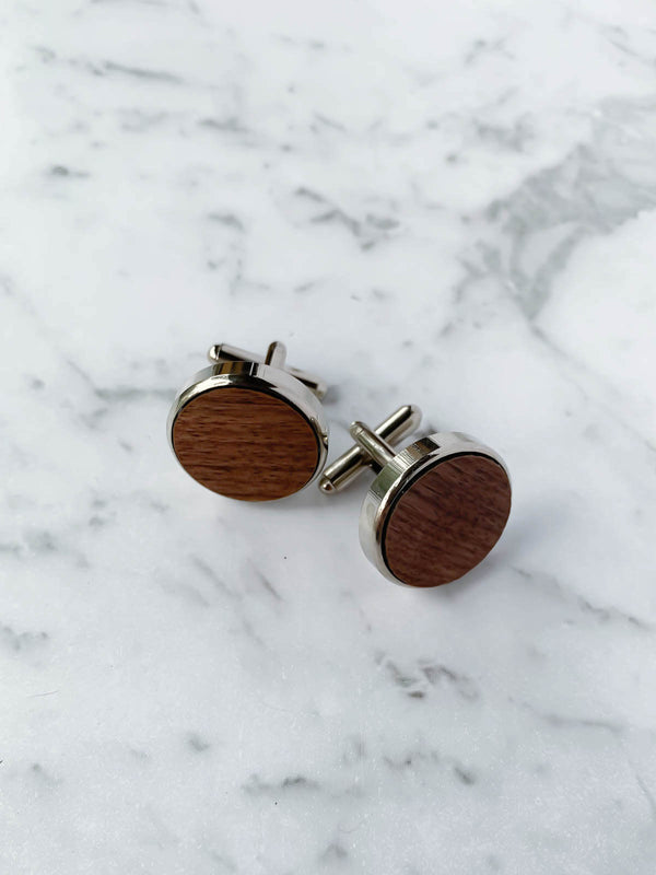 Wooden Cufflinks Australia | Dark Walnut