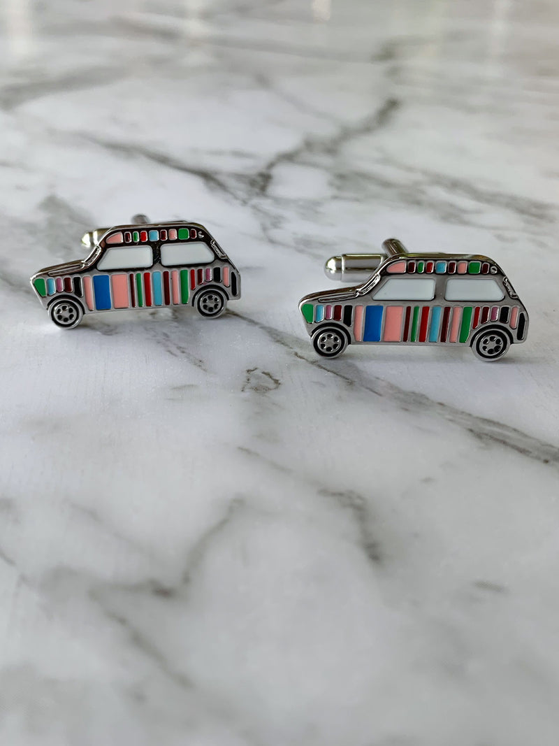 Mutli Colour Artists Stripe Car Cufflinks | Novelty Cufflinks Australia