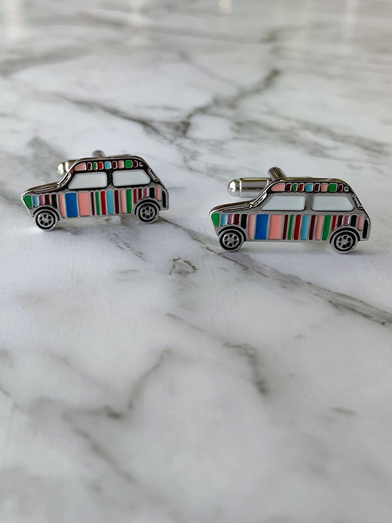 Multi Stripe Car Cufflinks