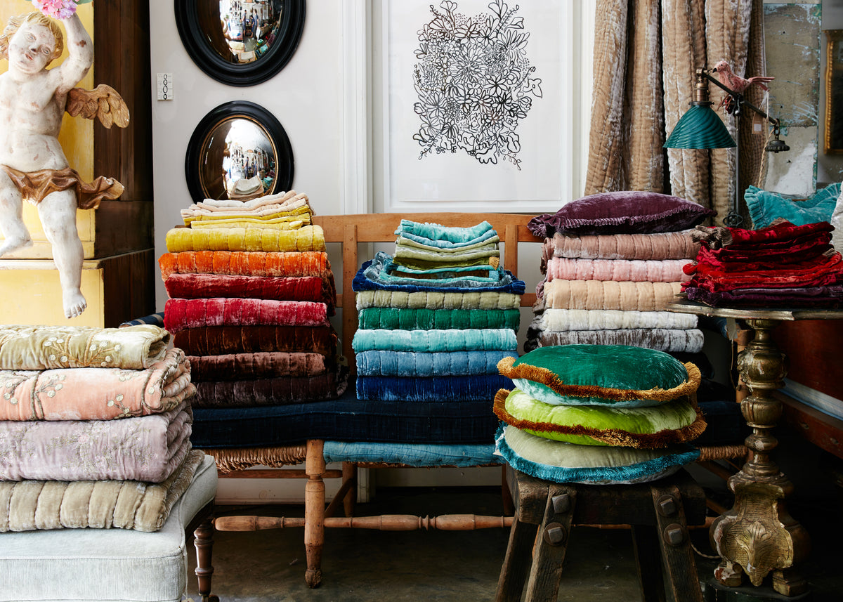 Anke Drechsel Silk Velvet Throws & Quilts