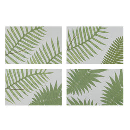 British Ferns Rectangular Placemats that come in a Set of 4