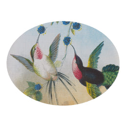 Paired Hummingbirds Oval Placemat