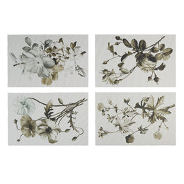 Sepia Plants & Flowers Rectangular Placemats Set of 4
