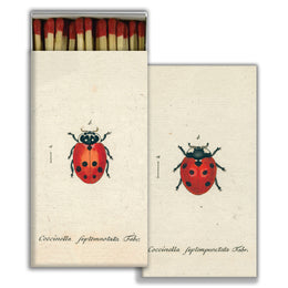 Little Lady Bug and Red Lady Bug four inch matchbox with fifty sticks