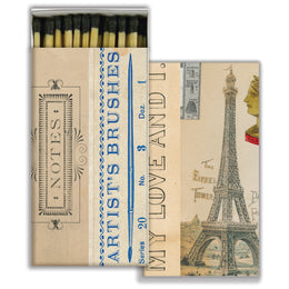 Artist Notes four inch matchbox with fifty sticks