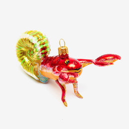 Hermit Crab with Yellow Shell Ornament