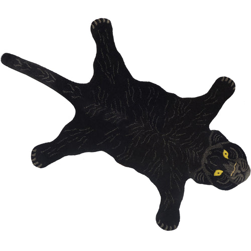 Fiery Black Panther Rug