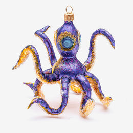 Yellow and Purple Octopus Ornament