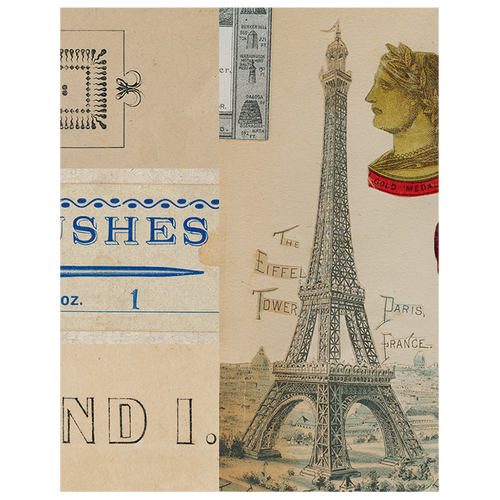 Notes / Artist's Brushes / My Love / Eiffel Tower (p 90)