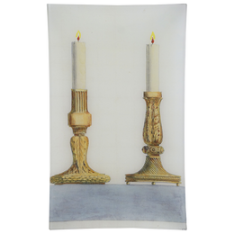 Column & Leaf Candlesticks