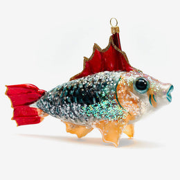 Red & Grey Fish Ornament
