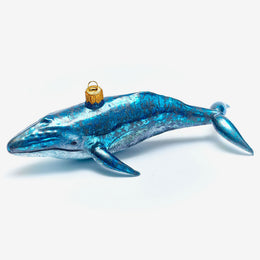 Blue & Grey Whale Ornament