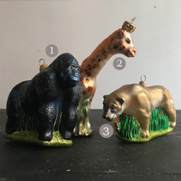 Jungle Animals Glass Ornaments