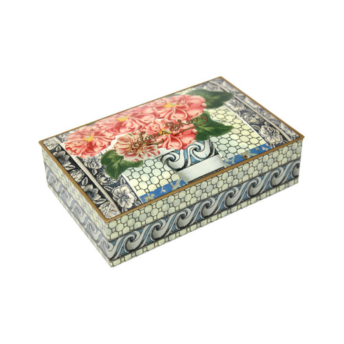 "12-Piece ""Pink Flower"" Truffle Tin by John Derian"