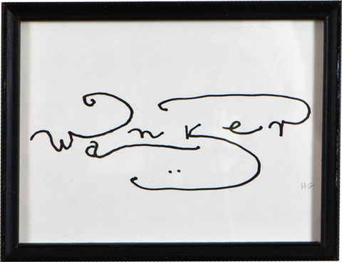 English Word in a Foreign Script 'Wanker 2'