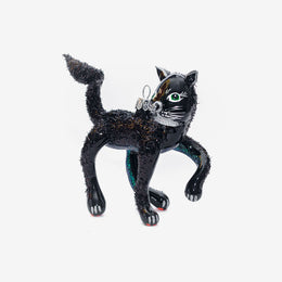 Large Black Cat Ornament