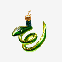 Green Snake Ornament