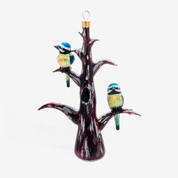 Tit Birds On Tree Branches Ornament