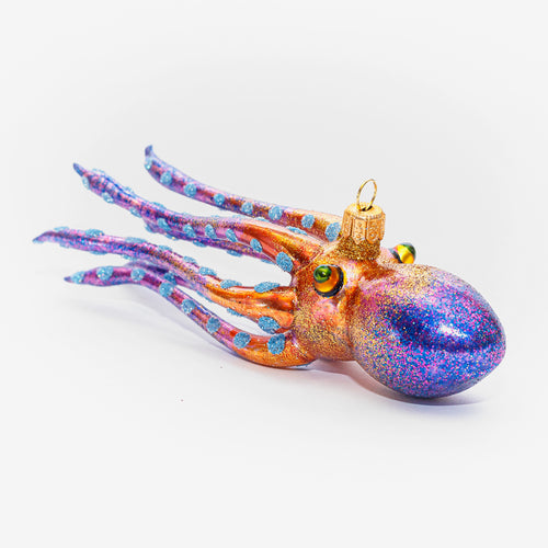 Purple & Brown Squid Ornament