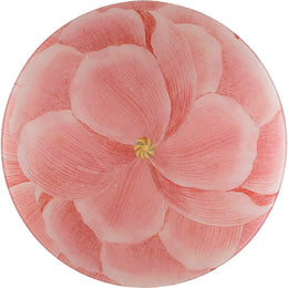 Pink Pale Poppy from 18th century Germany in a 16 inch round platter.