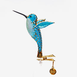 Blue Hummingbird Clip-On Ornament