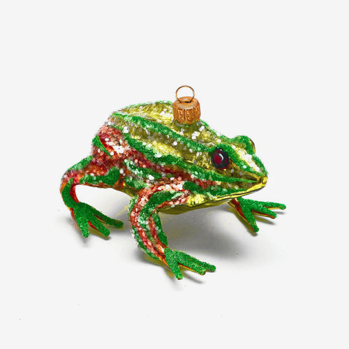 Green & Brown Frog Ornament