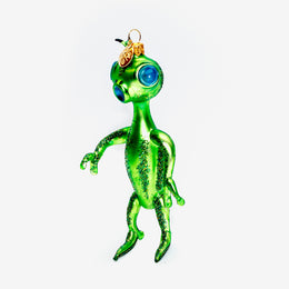 Green Alien Ornament
