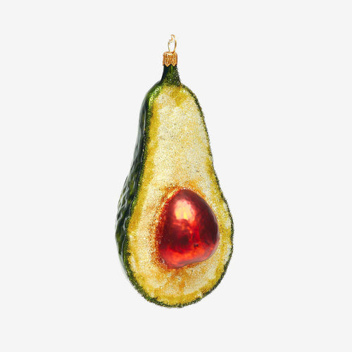 Avocado With Leaf Ornament