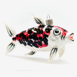 White & Red Koi Fish Ornament