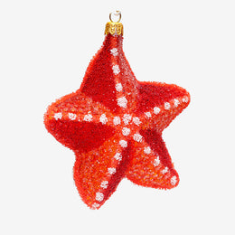 Red Starfish Ornament
