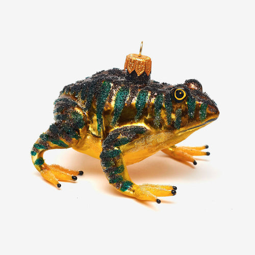 Yellow & Brown Frog Ornament